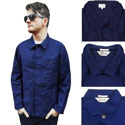 Grade B CHORE French Worker Work Jackets - Navy Blue - Various Sizes XS S M L XL