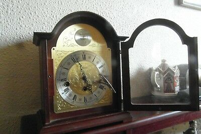 Hermle Bethnal Mechanical Mantel Clock - Walnut Case - 4x4 Westminster Chime