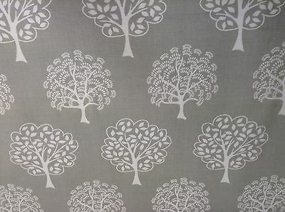 Parkland Trees Stone Beige Cotton  140cm wide Curtain/Craft Fabric