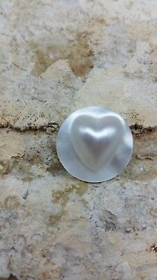 Loose Mabe Heart Pearl Authentic Backing Saltwater B Grade Wholesale Bulk #23