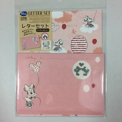 kawaii pen pal letter set writing paper stationery Disney Minnie Mouse Pink Cute