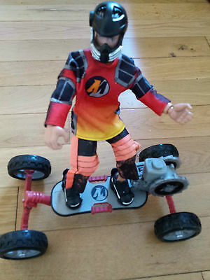ACTION MAN SKATE BOARD And Rider EXTREME