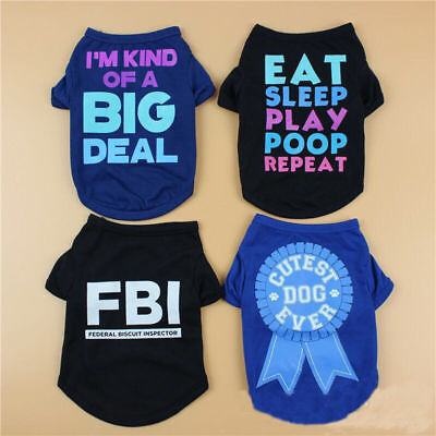 Summer Puppy T-shirt Dogs Pet Funny Clothing Shirt for Small Medium Large Dogs