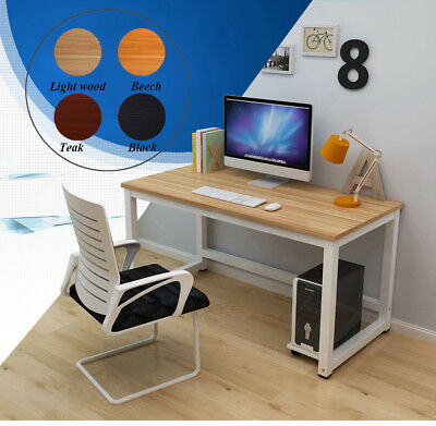 Computer Desk Office WorkStation Home Writing Study Table MDF Board Metal Legs