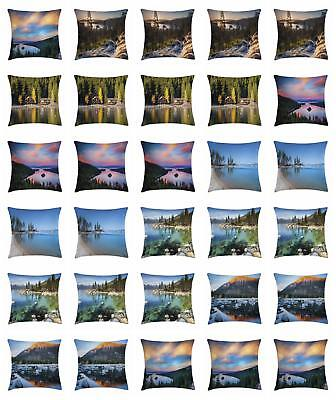 Lake Tahoe Throw Pillow Cases Cushion Covers Ambesonne Home Decor 8 Sizes