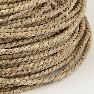 2m x 4mm Natural Seagrass Cord Rope-Cut to order  -Pet Rabbit  Parrot Toy Part