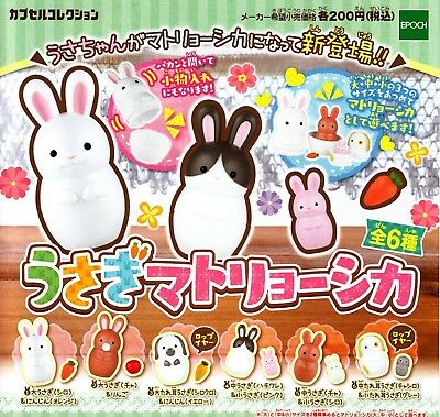 EPOCH capsule toy Rabbit Matryoshka 6 set gashapon From Japan Free shipping