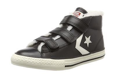 155a368023cf0d Converse Kids Star Player EV 3V Mid Hi-Top Trainers Children Shoes 658152C  Black
