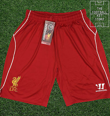 Liverpool Home Shorts - Official LFC Warrior Football Shorts - Boys - All Sizes