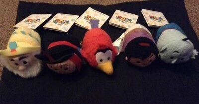 Disney Store Tsum tsum Bundle aladdin jafar sultan luga and Genie Soft toys