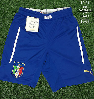 Italy Away Shorts - Official Puma Football Shorts - Boys - All Sizes