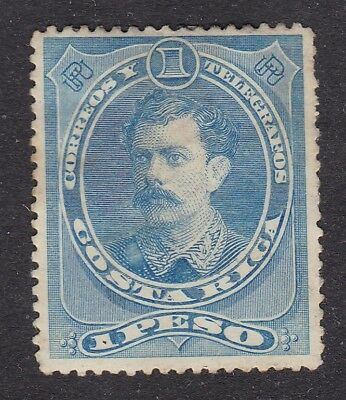 Costa Rica 1889 1 peso - Blue - SG28 - Mint Hinged (B5D)
