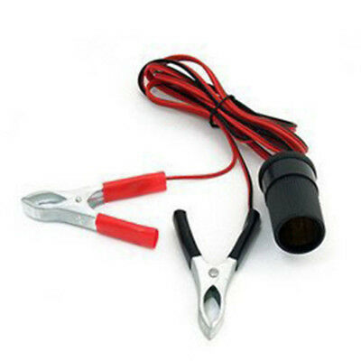 Car Battery Emergency Combine Cable Terminal Clip-on Female Power Extension Cord