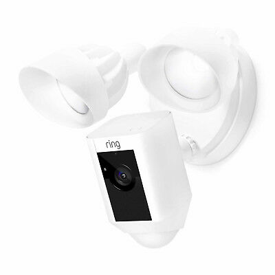 Ring Outdoor Wi-Fi Cam with Motion Activated Floodlight, White 88FL000CH000