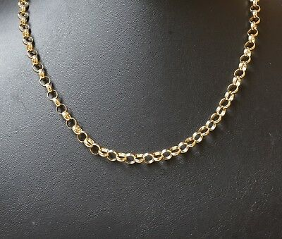 3a3e46d152dd1 9CT GOLD ROUND BELCHER NECK CHAIN NECKLACE. 21