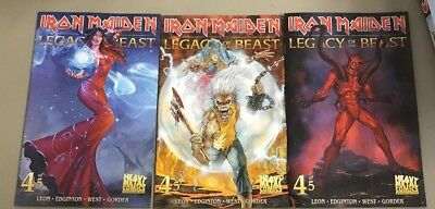 3x IRON MAIDEN LEGACY OF THE BEAST 4; A CASAS B C VARIANT Heavy Metal Eddie
