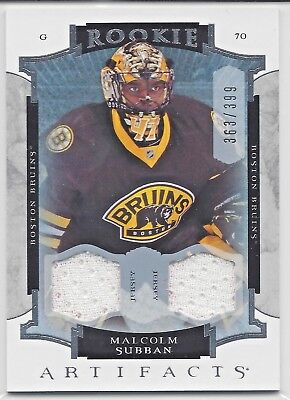 15-16 Artifacts Malcolm Subban Rookie Jersey RC SP /399 Vegas Golden Knights VGK