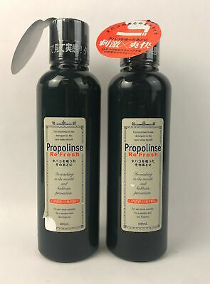 Lot of 2 Propolinse Mouthwash Breath Refresh Mint Cleaner for Smokers 600ml Each
