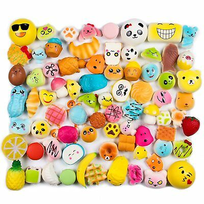 20/30/50Pcs Jumbo Squishy Slow Rising Scented Squeeze Toys Gifts Reliever Stress