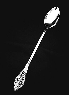 """Reed & Barton Florentine Lace Sterling Silver Iced Tea Spoon - 7 3/4"""""""