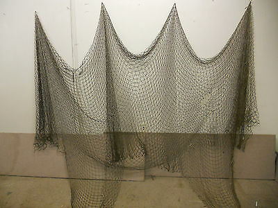 10'X20' BRN NAUTICAL NET DECOR-DECK-YARD-MARITIME, RECYCLED FISHING NET #misc