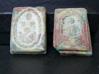 (ev118)  BUDDISM : 2 Very Old relics - Buddhist temple offerings