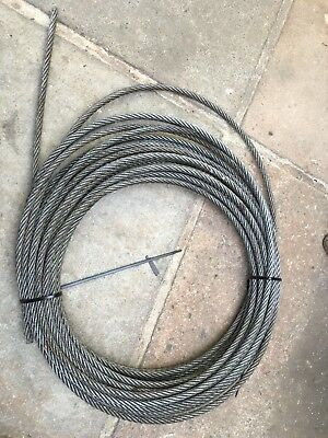 STEEL WIRE ROPE Winch Zip Wire Cable 90 Foot 10mm - £5.50 | PicClick UK