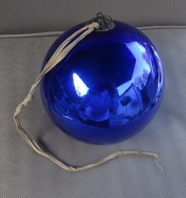 Original Large Victorian 19th century Witches ball - Blue - #3