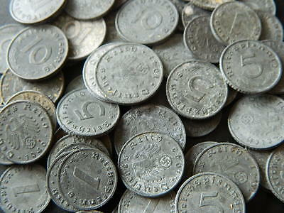 10 pfennig  with Swastika 1 5 88 Lot of Germany 10 coins