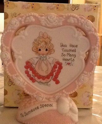 """Precious Moments Heart Shaped Plaque 1995 """"You Have Touched So Many Hearts"""""""