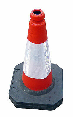 ** Heavy Duty Self Weighted 450mm Road Traffic Cone (Pack of 10 Cones)**