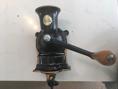 vintage cast iron spong No 1 Moulin a café wall mounted coffee grinder mill