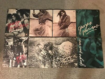 5 Vintage 1986 GUESS JEANS GEORGES MARCIANO Poster Print Ad Lot 1980s RARE