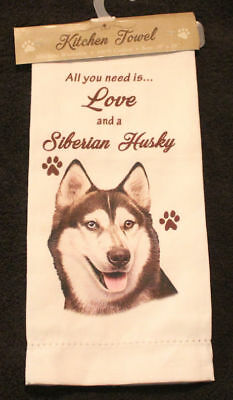 Siberian Husky Dog Breed Cotton Kitchen Dish Towel