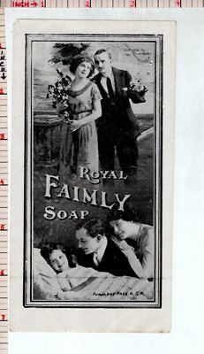 Royal Family Soap Vintage India Old Cosmetic Label Antique #481553