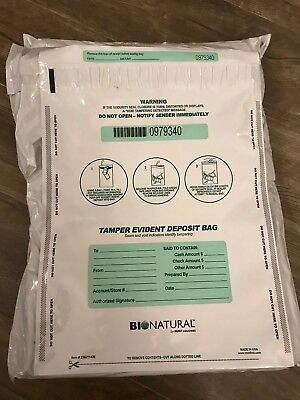 BioNatural by MMF Tamper Evident Deposit Bags 12 x 16 opaque white 236211406
