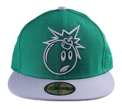 047fa8fe4c3 THE HUNDREDS ADAM Bomb Green Grey 59FIFTY New Era Fitted Baseball Hat 7 1 8  NWT -  22.00