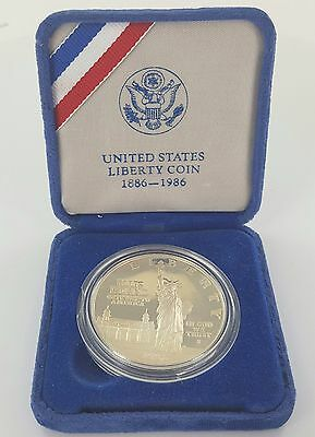 United States Commemorative Lady Liberty Ellis Island Silver Coin - 1886 - 1986