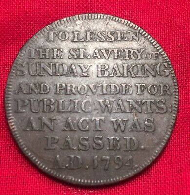 1795 Anti-Slavery Of Baking Anglesey Bakers Halfpenny Copper Conder Token