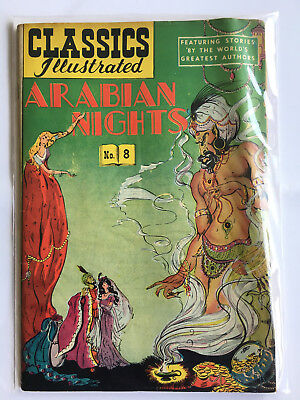 Classics Illustrated #8- Arabian Nights - HRN54 - Fair/1.0