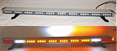 "50"" Amber LED Light Bar Tow Truck Plow EMS Police Cars w/ BRAKE & CARGO LIGHTS"