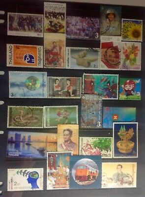 Thailand - 1 page excellent used stamps, see scan.