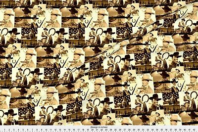 Nature John Wayne The Duke Cowboy Actor Acting Fabric Printed by Spoonflower BTY