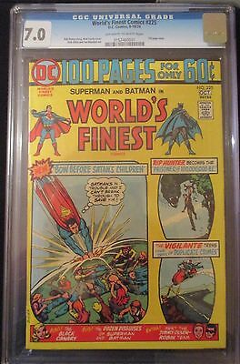 WORLD'S FINEST #225 CGC 7.0 -- O/W to WHITE PAGES!  100 PAGE ISSUE! HANEY/CARDY