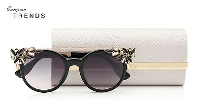 67abbfcfb7d94 JIMMY CHOO VIVY S Black Gold Detachable Jewel Clip Women Sunglasses ...