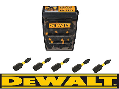 DeWALT PZ2 Extreme Impact Torsion Pozi 2 Screwdriver Bits 25mm x 5 fits BOSCH