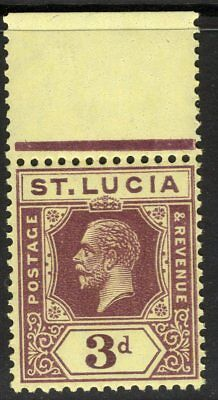 ST.LUCIA SG100a 1930 3d DEEP PURPLE/PALE YELLOW MNH