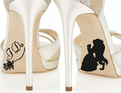Beauty and the Beast Disney Princess Belle Wedding Bride Shoe I Do Stickers
