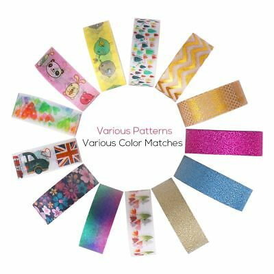 40X Washi Paper Scrapbooking Decorative Sticker Masking Adhesive Tape 3m x 1.5cm