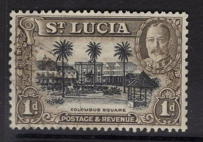 ST.LUCIA SG114a 1936 1d BLACK & BROWN p13x12 FINE USED